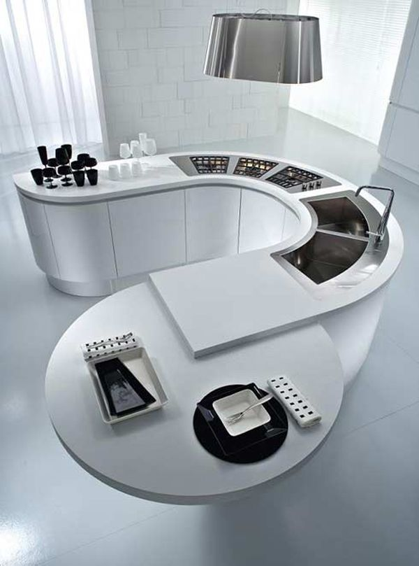 Futuristic Kitchen 32 best space age futuristic kitchens images on pinterest | modern