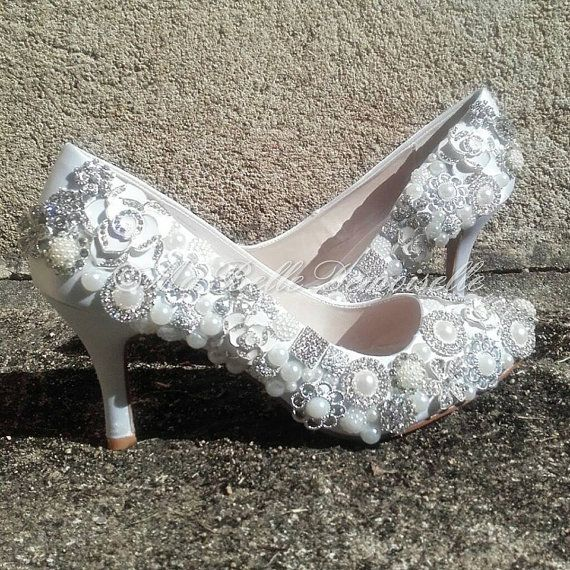 Broche cristal mariage chaussure