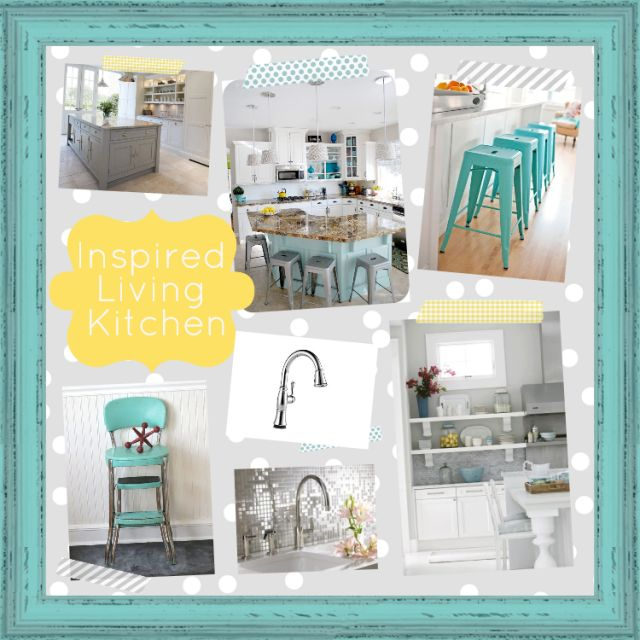 19 best inspired living images on pinterest kitchen for Tiffany blue kitchen ideas