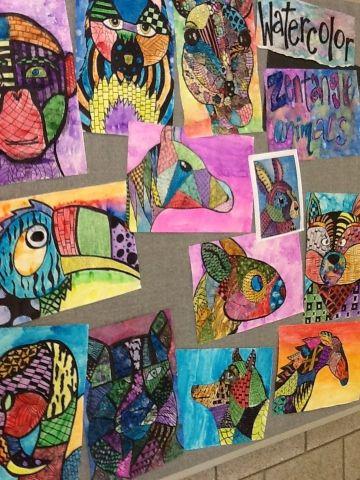 Zentangle plus watercolor techniques