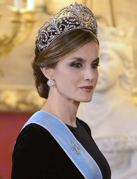 Spanish Royals, King Felipe and Queen Letizia and President Of Argentina Attend a Gala Dinner