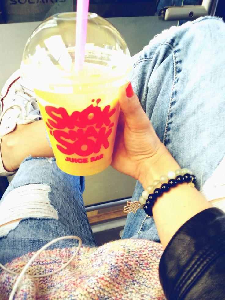 Converse sneakers, Zara boyfriend jeans, sweater and jacket, Mokobelle bracelets.