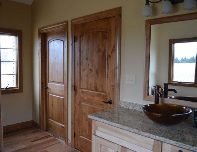knotty alder interior doors for sale