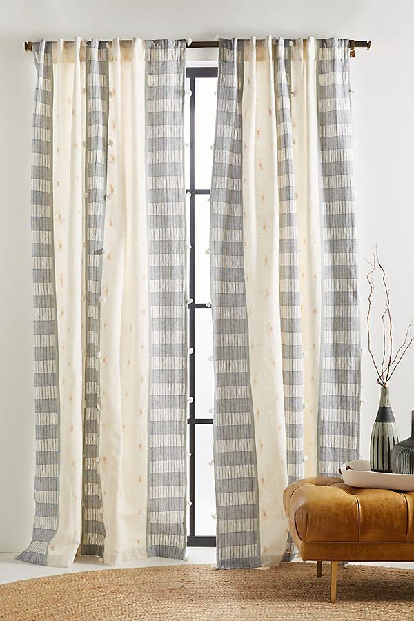 Tasseled Moira Curtain Home Decor Styles Summer Living Room Decor Custom Drapes #summer #curtains #for #living #room