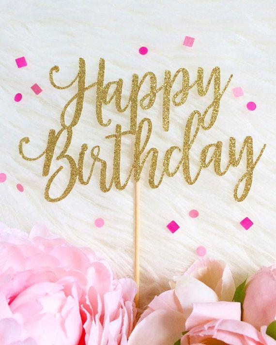 Alles Gute zum Geburtstag Cake Topper Geburtstag Cake Topper von TopperAndTwine   – Geburtstag