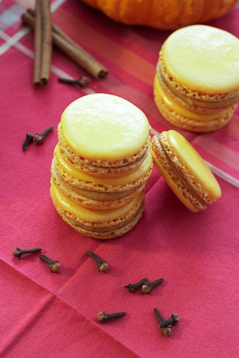 Pumpkin Macarons | schön und suß | Pinterest