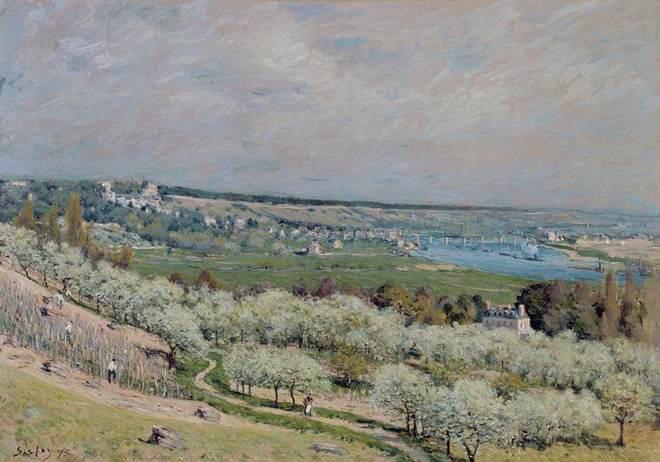 The (olive grove) Terrace at Saint Germain Painting - Alfred Sisley