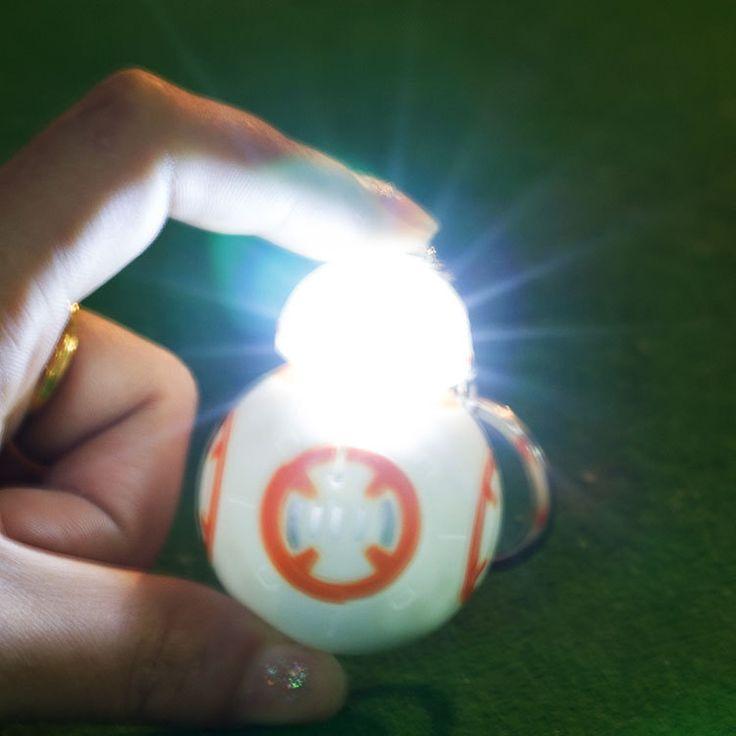 Новый Звездные войны The Force Пробуждает BB8 BB-8 Droid Robot Дарт вейдер СВЕТОДИОДНЫЙ фонарик брелок Фигура штурмовика Clone Ремень игрушки