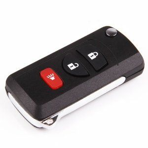 Amazon.com: Remote Uncut Folding Flip key Shell Case For Nissan Frontier Murano Titan QUEST ARMADA XTERRA PATHFINDER 3Buttons: Automotive