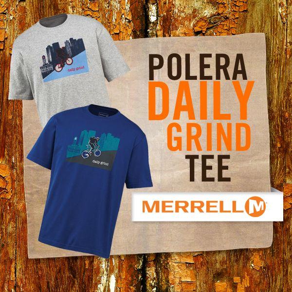 Nada más cómodo y fresco que una #Polera #DailyGrindTee #Merrell