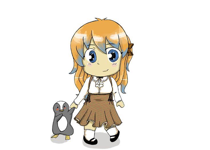 obrazek dla Airi-nyan Airi z pingwinkiem :)