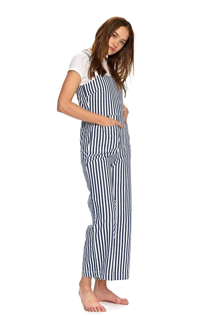 ROLLAS - Sailor Jumpsuit Navy Stripe