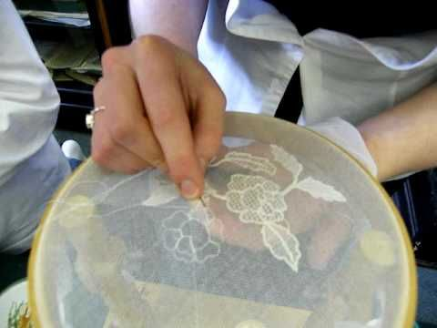 Limerick Lace Demonstration by Sandra Finnegan