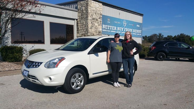 MIRANDA's new 2013 NISSAN  ROGUE! Congratulations and best wishes from Benny Boyd Motor Company - Marble Falls and DEE NIXON.