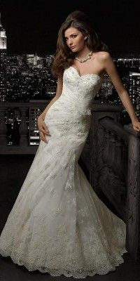 Slim Fishtail Mermaid Sweetheart Neckline Lace 37002 By Madeline Gardner Looked Stunning On