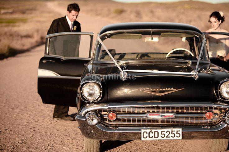 Black vintage car Bon Cap, Robertson