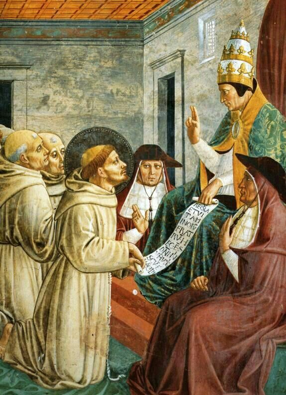 Saint Francis of Assisi and Pope Innocent III