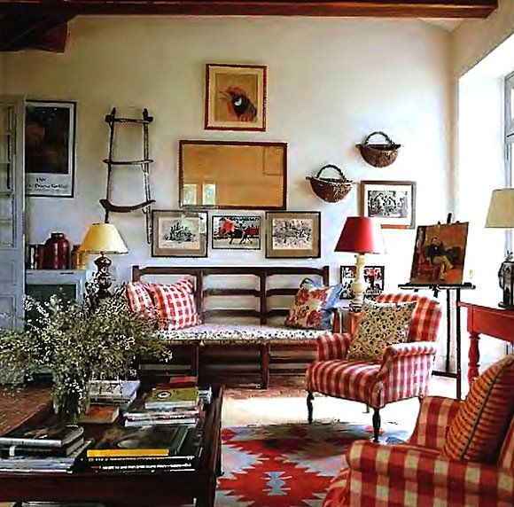 French Country Cottage Living Room: 510 Best Glorious Gingham Images On Pinterest