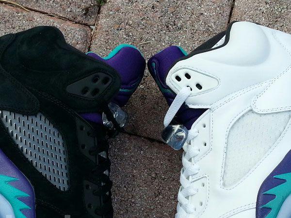 "... Comparing The Air Jordan 5 ""Black Grape"" and ""Grape"" http ... d9ab6eedee"