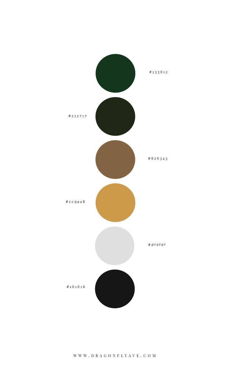 Buena Suerte Brand Web Design Dragonfly Ave In 2020 Modern Color Palette Black Color Palette Green Colour Palette