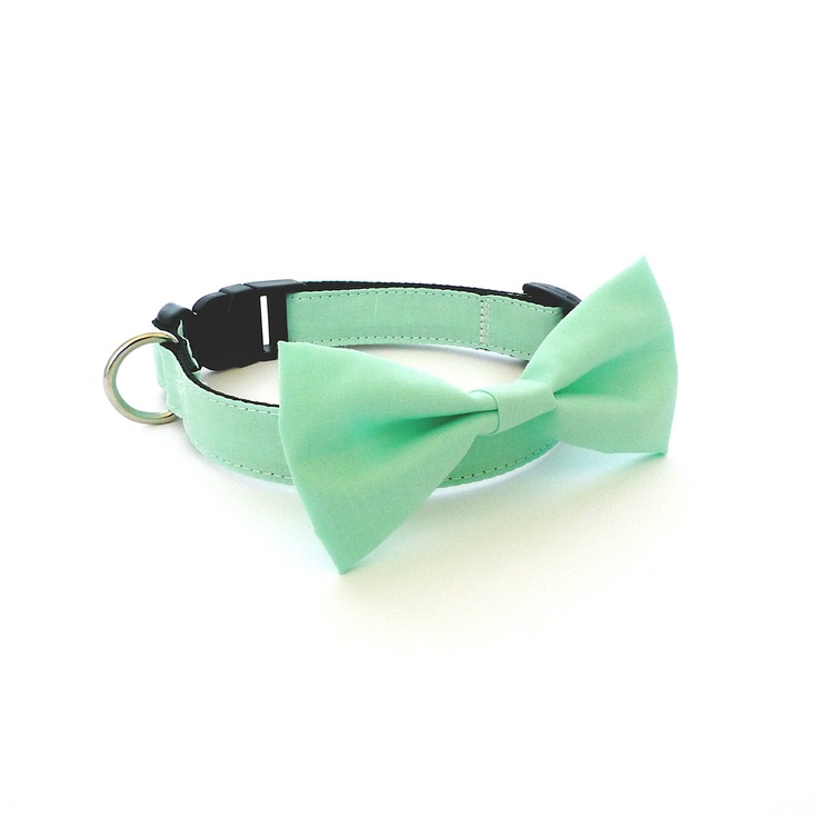 Mint Bow Tie Collar by UsagiTeam