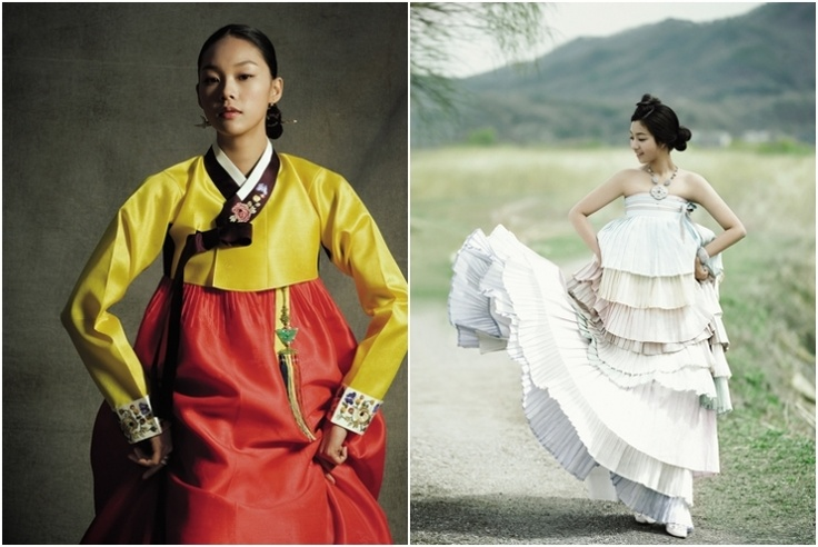 Korean traditional dresses by Hanbok Lynn #dress