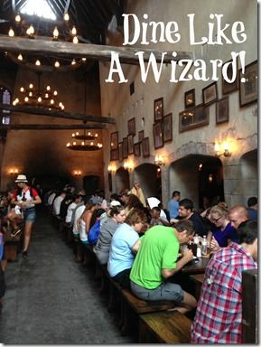 Dining at the Wizarding World of Harry Potter - Travel With The Magic | Travel Agent | Disney Vacation Stay here http://www.orlandocondoatlegacydunes.com/