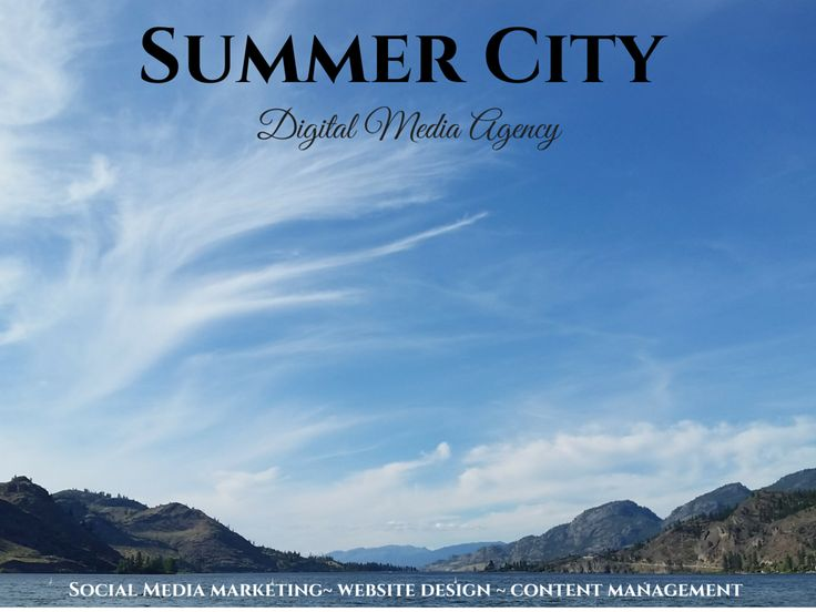 Come visit summercity.media to meet the newest digital media agency and creative design studio in British Columbia, Canada! Find us here ~~> summercity.media