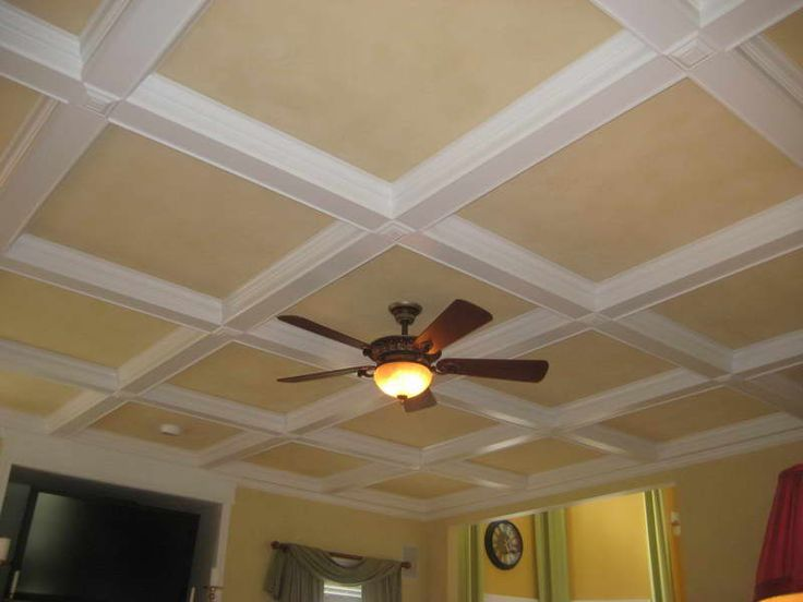 Drop ceiling fan installation with wall lamp paint Basement ceiling color ideas
