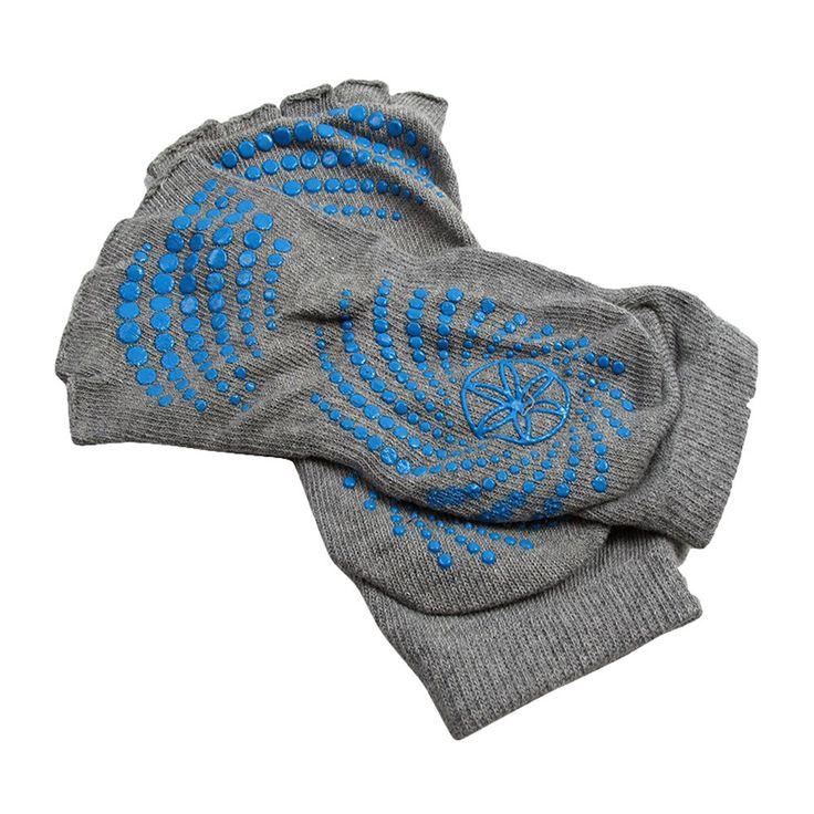 Luxury Toeless Grippy Yoga Socks Toesocks Non-Slip Yoga Socks, M (Gray)