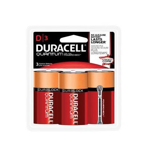 Duracell 66511 Quantum Alkaline Batteries, D
