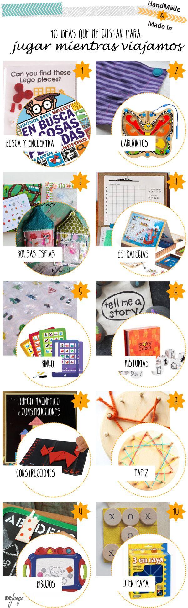 10 DIY para hacer juegos de viajes para niños divertidos, fáciles de realizar y muy económicos.