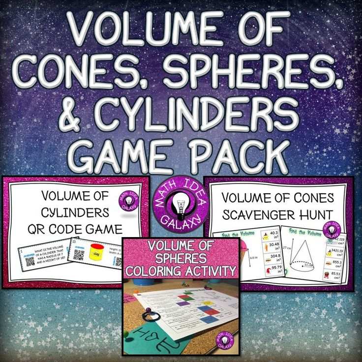 Teaching the volume of cylinders, cones, and spheres is all about the formulas. In the good old days the students didn't have to memorize the formulas, but those days are gone. When my students practice