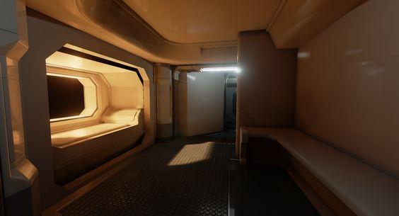 UE4 Sci Fi Colony Bunk Room