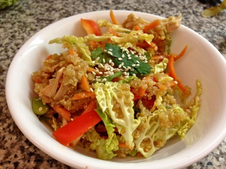 Asian Chicken Quinoa Salad | StayHungreeStayHungree