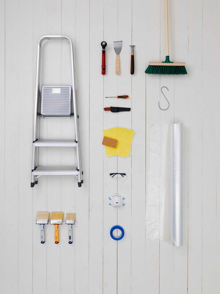 All you need to get ready for painting. Beckers