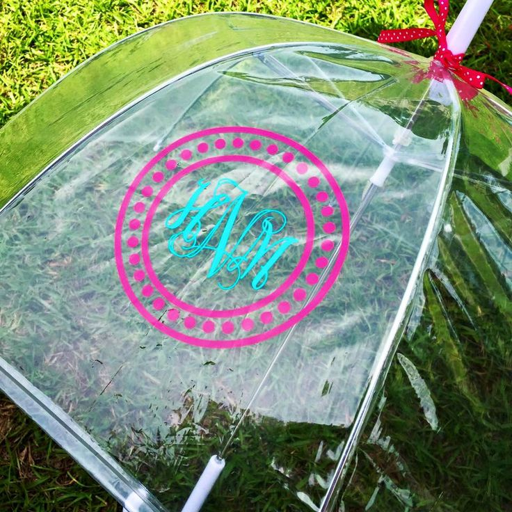 Kids Monogram Umbrella - Monogram Umbrella - Girls Umbrella - Childrens Umbrella - Birthday Gift - Christmas Gift - Personalized  Clear Dome by HBSouthernInspired on Etsy https://www.etsy.com/listing/240395337/kids-monogram-umbrella-monogram-umbrella