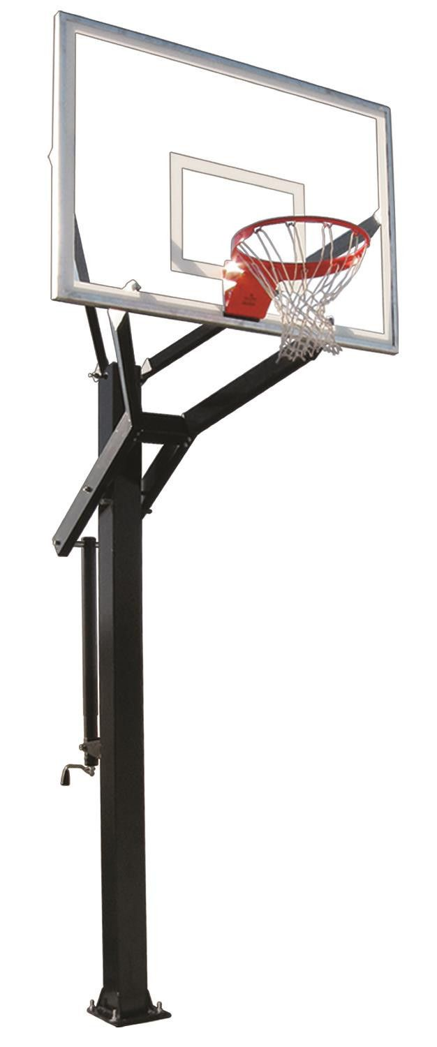 First Team Powerhouse 660 In Ground Outdoor Adjustable Basketball Hoop 60 inch Tempered Glass from NJ Swingsets