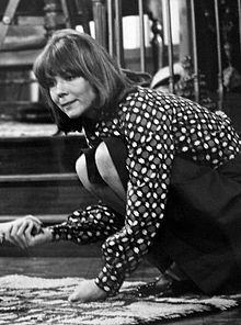 Diana Rigg starred in 'Diana' a US Sit-com 1973  .... which to her bemusement becomes the site of many unannounced visits by her brother's numerous girlfriends. Each episode finds Diana trying to adjust to American life with help from her next door neighbor Holly Green (Carole Androsky), copywriter Howard Tollbrook (Richard B. Shull), window decorator Marshall Tyler (Robert Moore) and new pal Jeff Harmon (Richard Mulligan), while dealing with her boss Norman Brodnik.