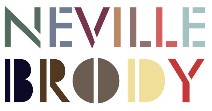 More of Neville's typefaces. This one gives off a blocky, stencil feel, promoting a more artistic feel for lettering.