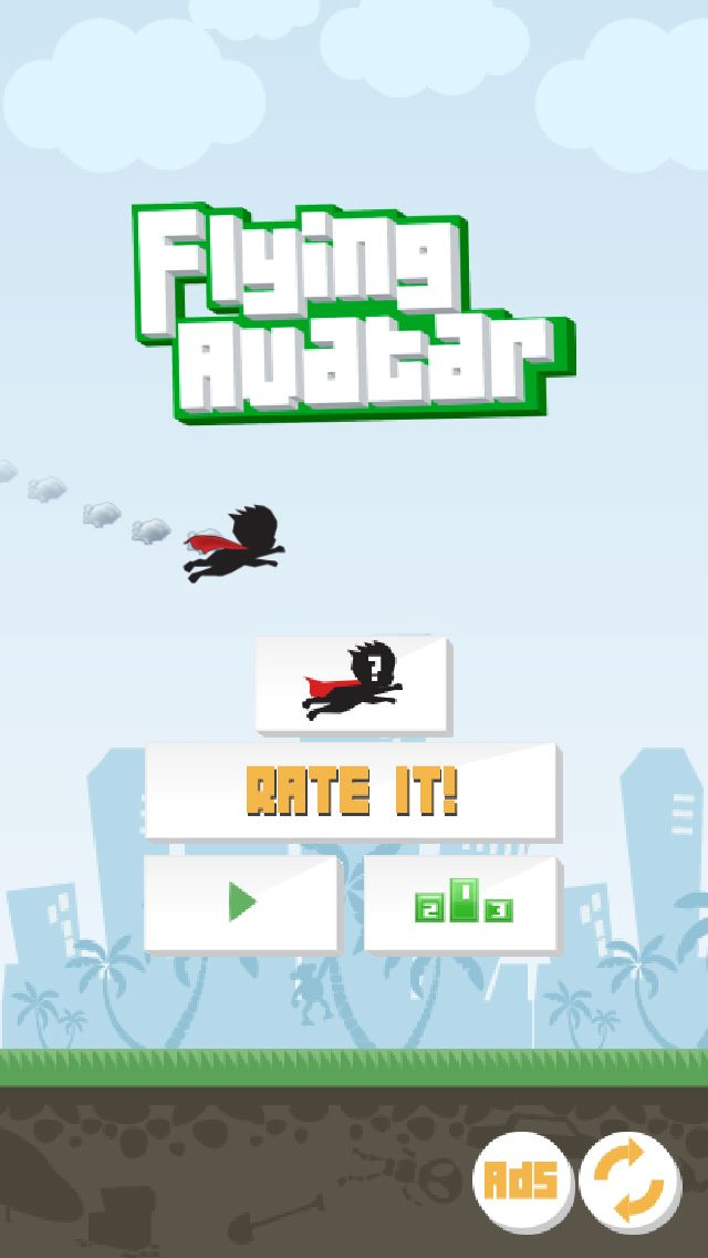 If you liked Flappy Bird, then you will love Flying Avatar - you can create your own character! Make your own flappy bird, a superhero, make a flying pet, or a funny flying selfie! www.flyingavatar.com #flyingavatar #games