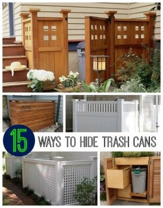 Great ideas for hiding outdoor trash cans or AC units!