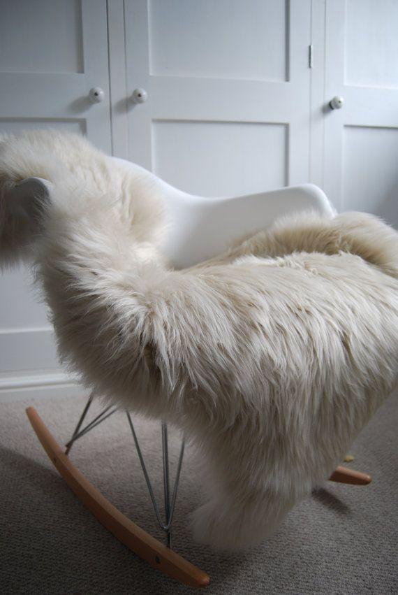Sheepskin Rug in Oyster Cream Luxurious Superior Sheepskin Throw by Swedishdalahorse #TrendingEtsy