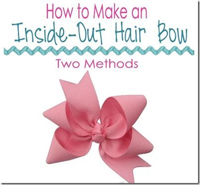 Fabric Bows and More: How to Make an Inside Out Hair Bow by The Ribbon ...