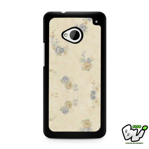 Blue Orange Floral HTC G21,HTC ONE X,HTC ONE S,HTC M7,M8,M8 Mini,M9,M9 Plus,HTC Desire Case