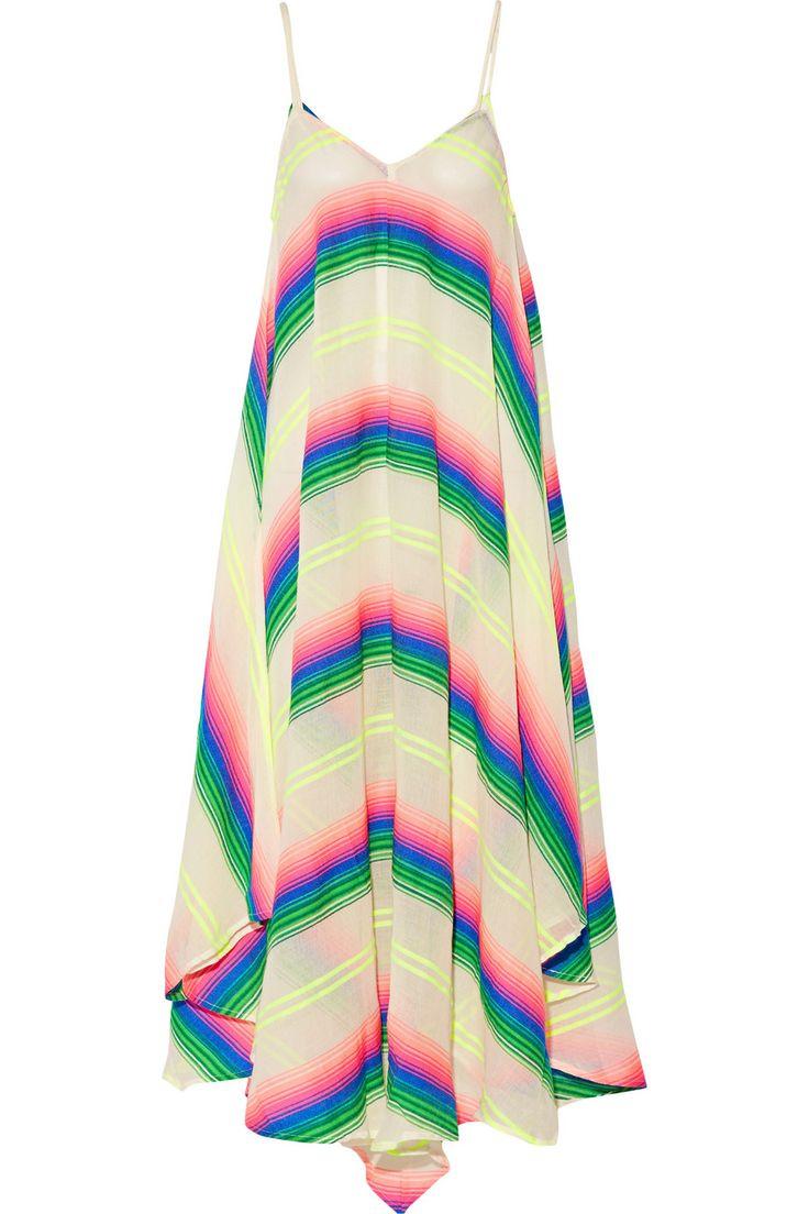 Mara Hoffman|Striped cotton-blend gauze dress|NET-A-PORTER.COM