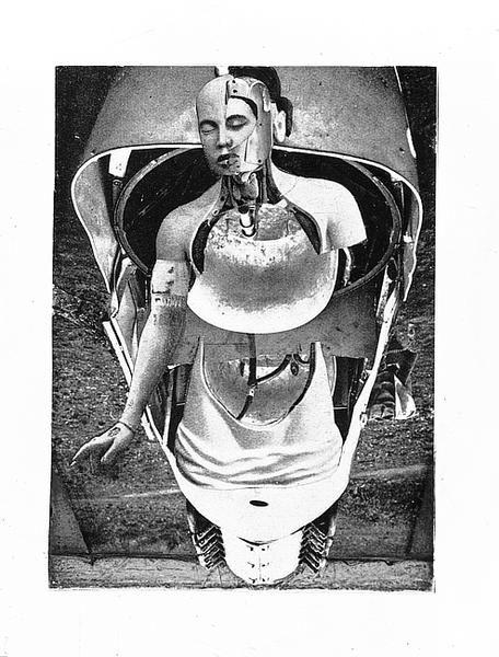 Max Ernst (1891 - 1976) - Die Anatomie als Braut / Anatomie jeune mariée (1921) #collage #mixedmedia #dada