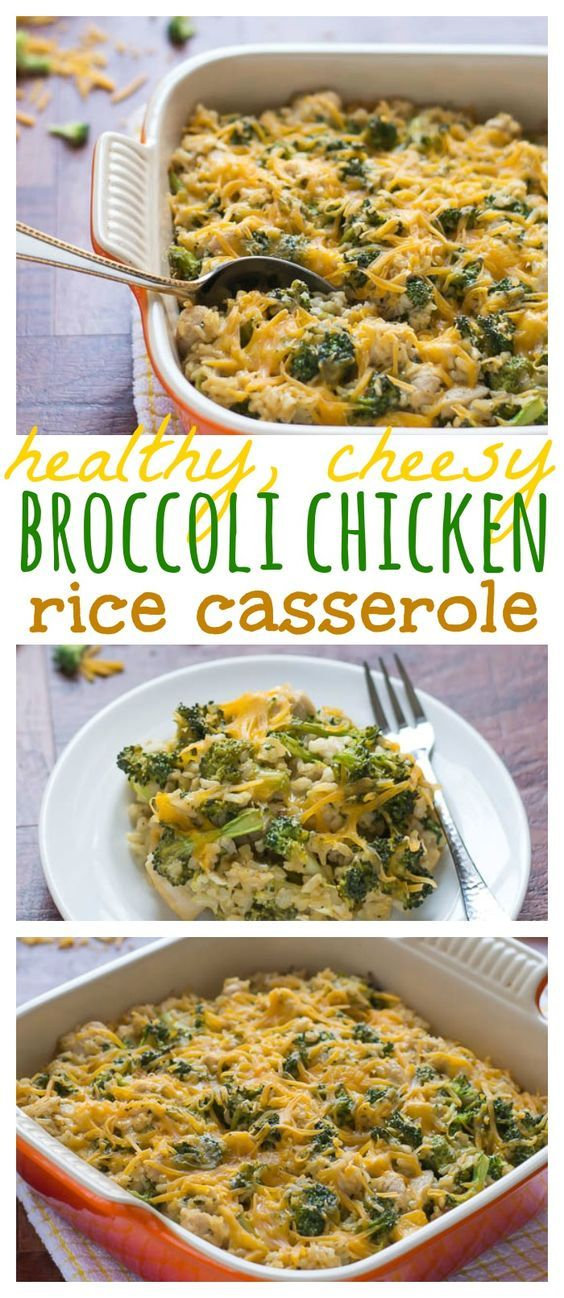 Healthy Cheesy Chicken Broccoli Rice Casserole | Recipe ...