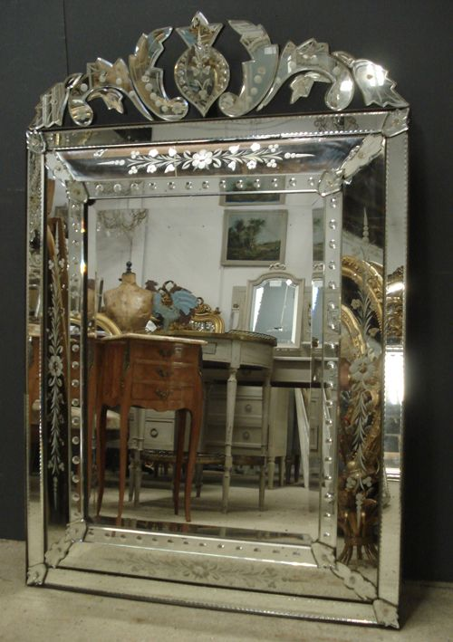 19th Century Antique Venetian Mirror From Jasperjacks