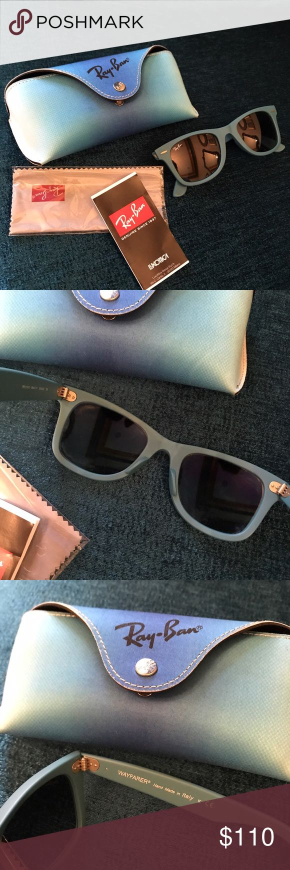 Rare Italian ray ban wayfarer sunglasses No flaws or scratches! Bought in Italy Ray-Ban Accessories Sunglasses